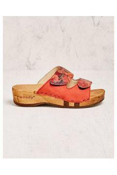 Woody Damen Pantoletten Neda rot Sandalen(108053028)