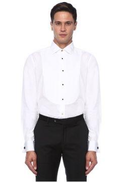 Paul Smith Erkek Beyaz Nervür Detaylı Gömlek S EU(121108267)