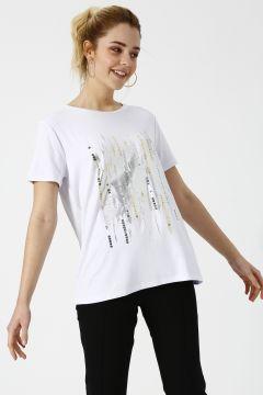 House Of Camellia Beyaz T-Shirt(113974819)