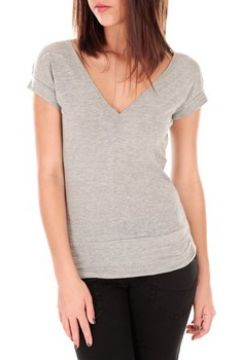 T-shirt By La Vitrine T-shirt dos cache coeur 017 Gris(127981116)