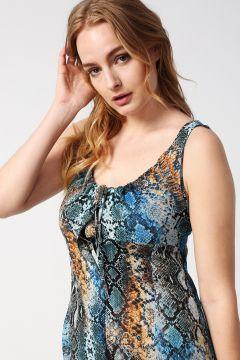 Beymen Studio Leopar Desen Renkli Elbise(113976577)