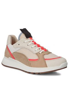 Ecco Kadın Sneaker St.1 W Vanilla/Coral Neon/Vanilla/Beige Multi Color(114219586)