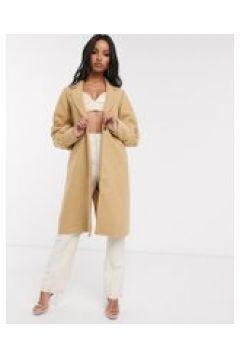 Unique21 - Cappotto di lana con polsini raccolti-Beige(120389215)