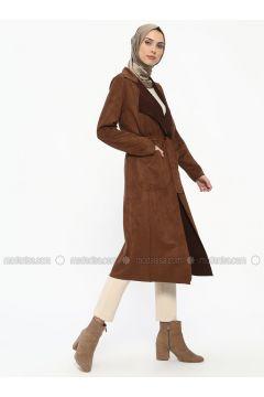 Tan - Unlined - Shawl Collar - Topcoat - ECESUN(110322434)
