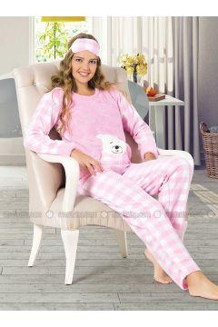 Pink - Crew neck - Multi - Pyjama - Elitol(110328442)
