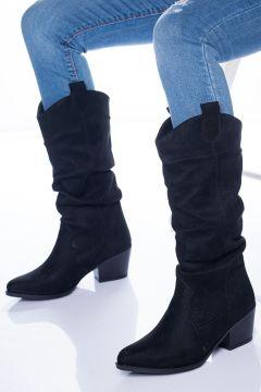 Ayakkabı Frekansı Vister Kadın Siyah Süet Bot(118648466)