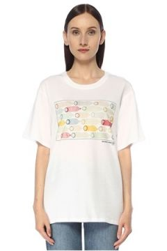 Benetton Erkek Toscani Beyaz Fotoğraf Baskılı T-shirt M EU(116745346)