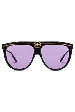 Солнцезащитные очки flat top - Gucci(125438630)