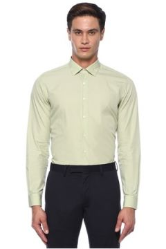 Caruso Erkek Yeşil İngiliz Yaka Gömlek 42 IT(118214501)
