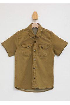 DeFacto Erkek Çocuk İki Cepli Kısa Kollu Gömlek(125919913)