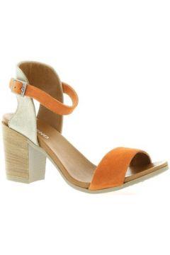 Sandales So Send Nu pieds cuir velours(127910337)