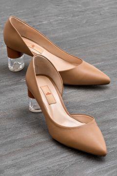 Elle Shoes ANORA Hakiki Deri Taba Kadın Topuklu Ayakkabı(121273034)