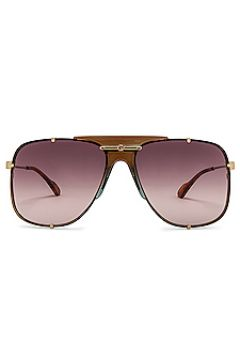 Солнцезащитные очки oversized embellished pilot - Gucci(118966957)
