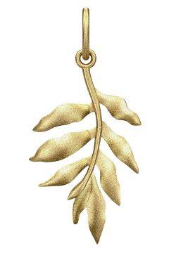Little Tree Of Life Pendant - Gold Halskette Schmuck Gold JULIE SANDLAU(109151499)
