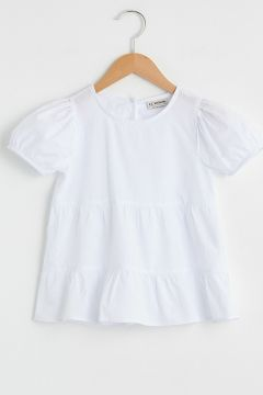 Çocuk Kız Çocuk Pamuklu Basic Bluz(127988936)