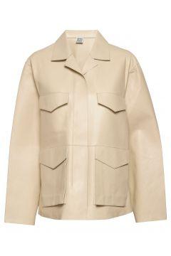 Avignon Leather Jacket Lederjacke Creme TOTÊME(116333795)