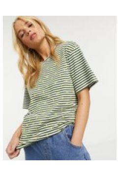 """People Tree - T-shirt a righe \""""breton\"""" in cotone organico con ape-Bianco(121760882)"""