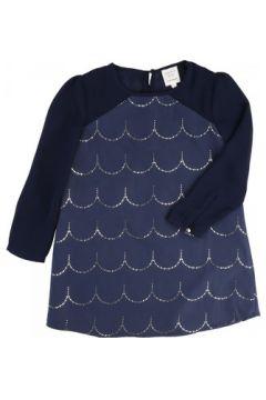 Robe enfant Carrément Beau Robe manches longues bleue(115466037)