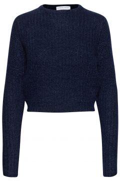 Woolly Ribbed Girlfriend Sweater Strickpullover Blau CATHRINE HAMMEL(121110389)