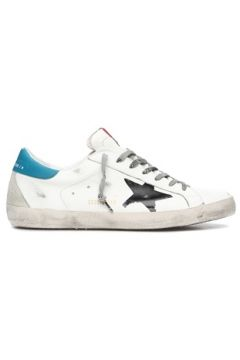 Golden Goose Erkek SuperStar Beyaz Mavi Deri Sneaker 40 EU(119785730)
