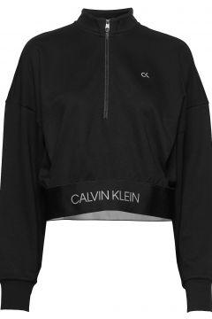 1/4 Zip Pullover Sweat-shirt Pullover Schwarz CALVIN KLEIN PERFORMANCE(115542335)