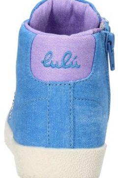 Chaussures enfant Lulu sneakers bleu toile AG662(115393518)