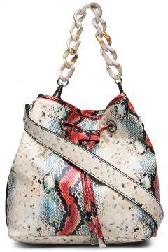 Nellish Snake Bags Bucket Bag Creme HVISK(114165806)
