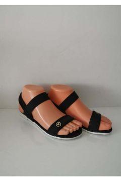 ELİS Kadın Siyah Günlük Plaj Havuz Lastikli Sandalet(118490614)