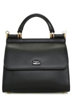 Dolce&Gabbana Kadın Sicily 58 Small Siyah Deri Omuz Çantası EU(107433760)