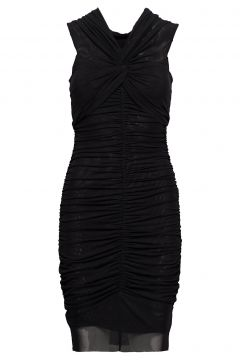 Nadine Mesh Dress Kleid Knielang Schwarz MARCIANO BY GUESS(114163935)