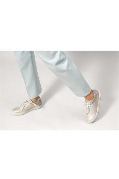 Shoes & More Kadın Gümüş Renk Sim Detaylı Spor Ayakkabı(124320863)
