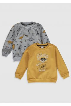 Bebek Erkek Bebek Baskılı Sweatshirt 2\'li(119456256)