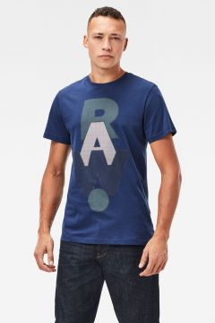 G-Star RAW Men RAW. Graphic T-Shirt Dark blue(118171181)