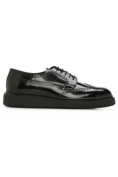 Prada Erkek Siyah Desenli Deri Ayakkabı 0 UK(122382372)