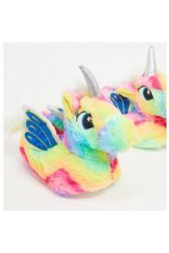 Loungeable - Pantofole a unicorno arcobaleno-Multicolore(121671250)