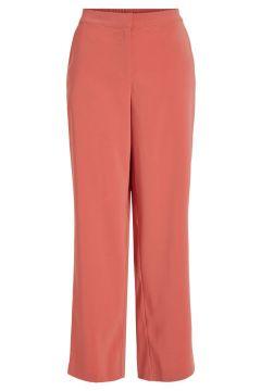 VILA Loose Fit Hose Mit Weitem Bein Damen Pink(108576366)