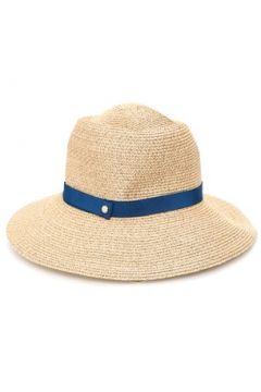 Inverni Kadın Bej Bantlı Sepet Dokulu Şapka Lacivert 57 EU(114438719)