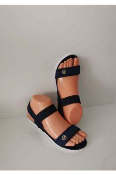 ELİS Bayan Lastikli Sandalet Lacivert Günlük Plaj Havuz(119320938)