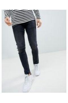 River Island - Skinny-Jeans in verwaschenem Schwarz - Schwarz(95028257)