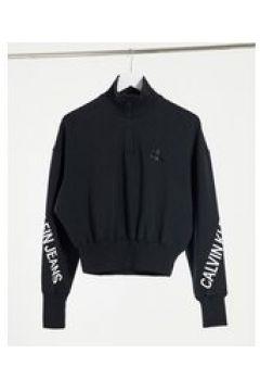 Calvin Klein Jeans - Top con collo a lupetto e zip nero(123472896)