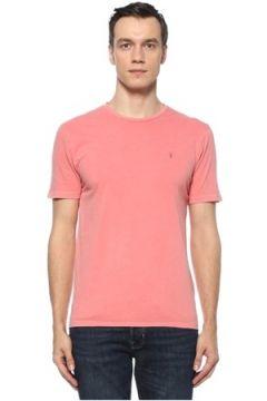 Allsaints Erkek Ossage Slim Fit Pembe T-shirt S EU(122167665)