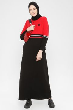 Robe MODAGÜL Rouge / Noir(108581465)