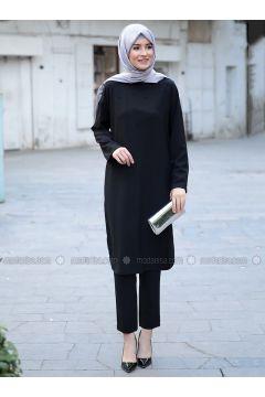 Black - Unlined - Suit - Emsale(110320533)