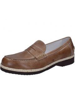 Chaussures Evoluzion mocassins beige cuir BZ405(115399086)