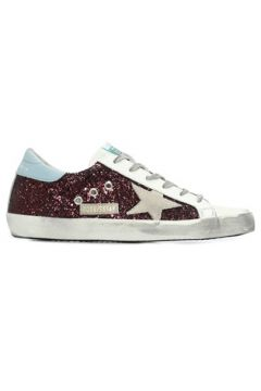 Golden Goose Kadın Superstar Beyaz Mor Logolu Payetli Sneaker Bordo 37 EU(107373571)
