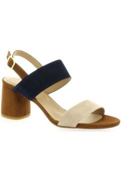 Sandales So Send Nu pieds cuir velours(127910097)