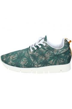 Chaussures Leather Crown LEATHER sneakers vert textile AJ999(88519829)