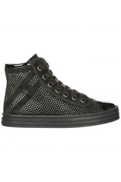 Girls shoes child suede high top leather sneakers r141(118070925)