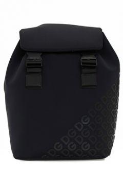 Dolce&Gabbana Erkek Siyah Logo Baskılı Sırt Çantası EU(108010543)