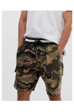 Sixth June - Cargo-Shorts mit Military-Muster - Grün(90476033)